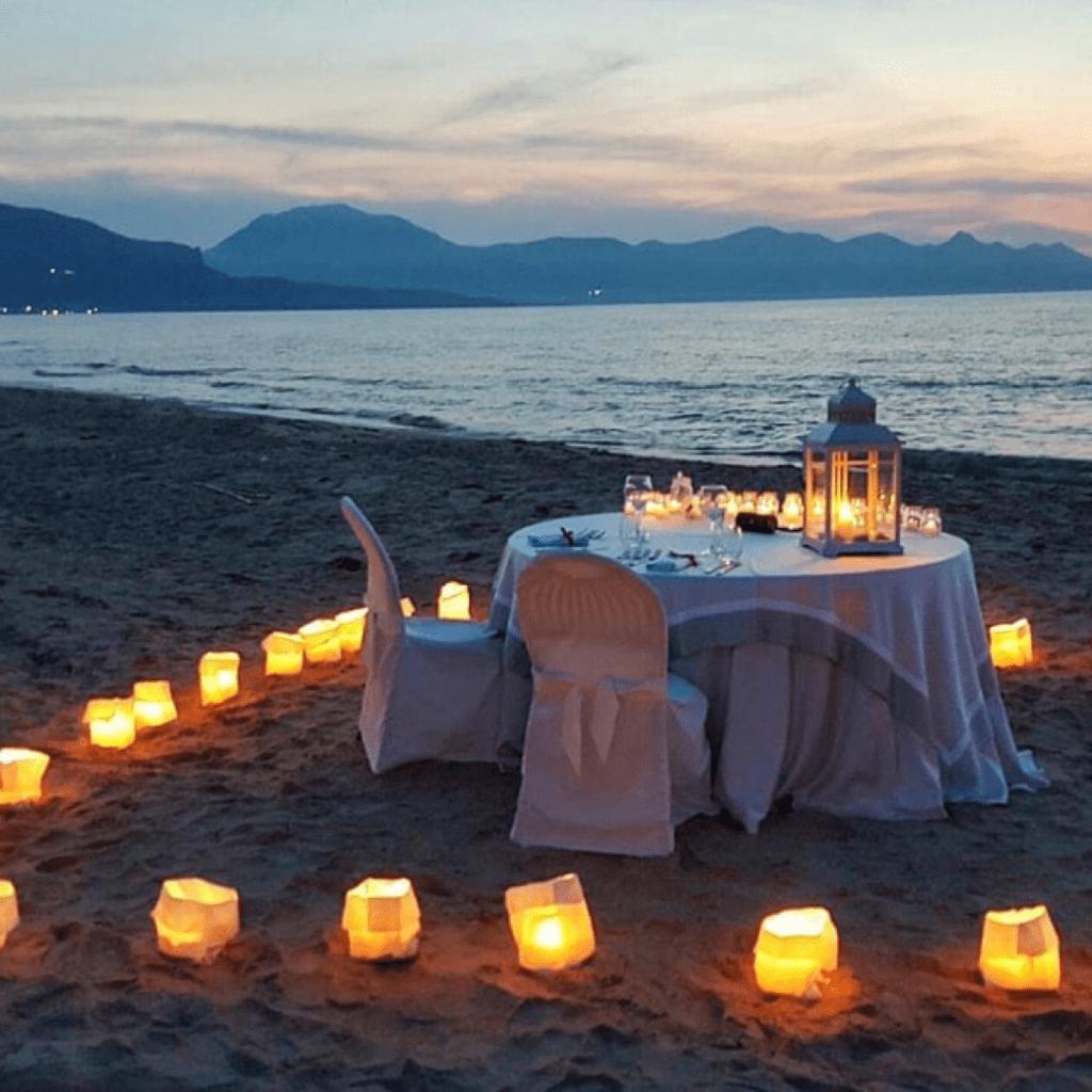 Cena in Spiaggia Pitò Catering